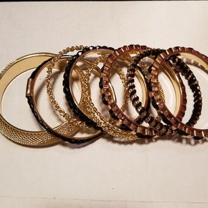 Black and Gold Bracelet Set